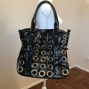 Nicole Lee Large Black Tote Bag